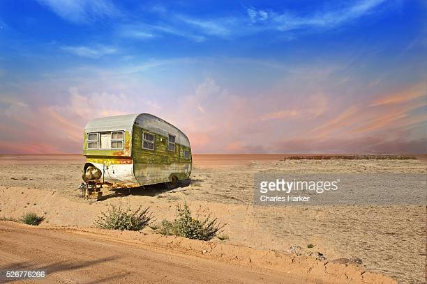 Abandoned Trailer in Arizona Desert