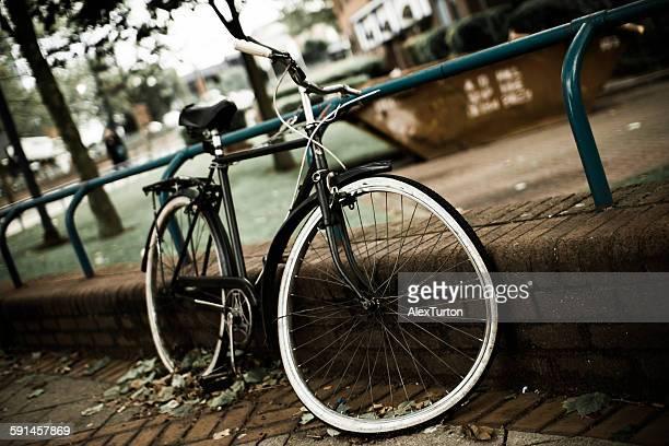 Abandoned trashed bicycle