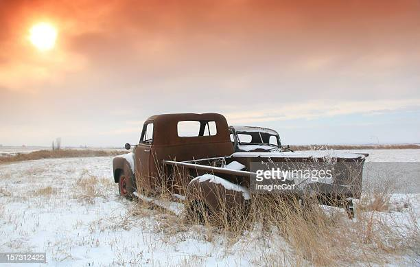 Abandoned Trucks on the Great Plains