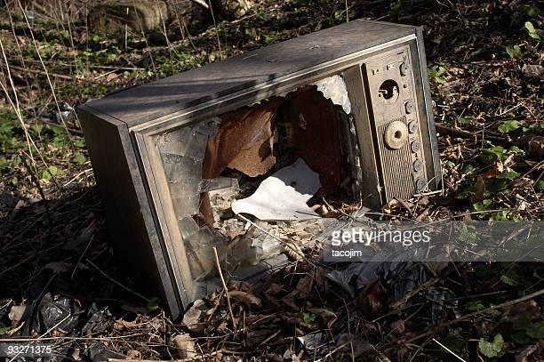 Verlassenen-Fernseher