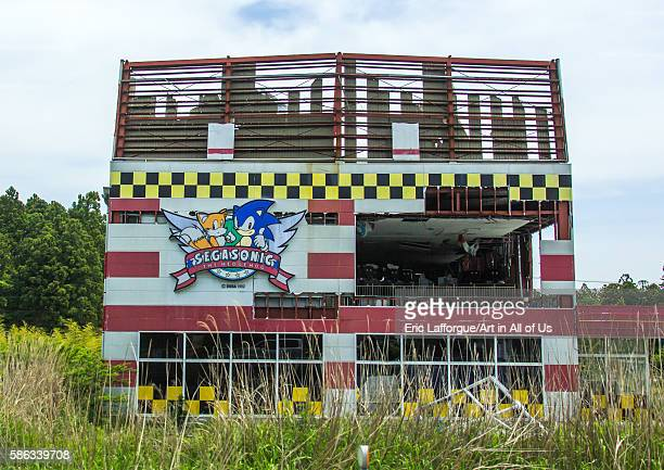 Abandoned video games shop in the difficulttoreturn zone after the daiichi nuclear power plant irradiation fukushima prefecture tomioka Japan on May...