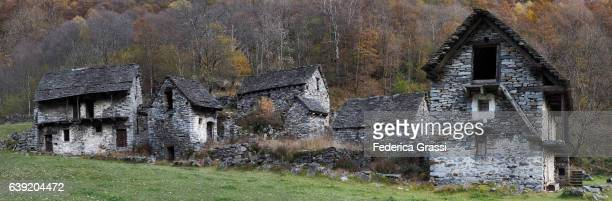 Abandoned Village of Lorentino in Verzasca Valley, Ticino, Switzerland