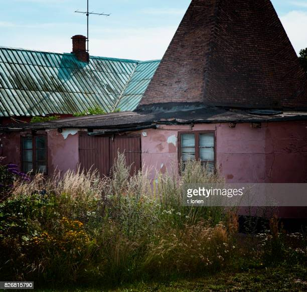 Abandoned village on small island in the Baltic Sea