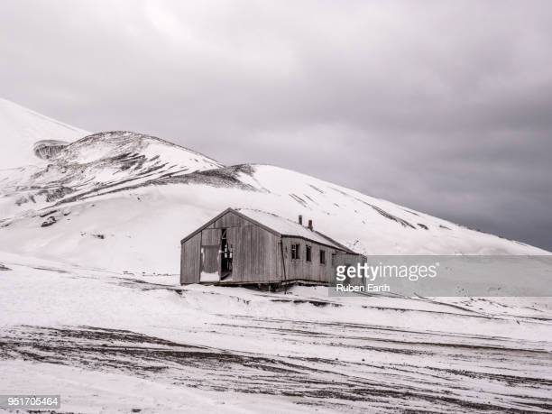 abandoned whaling station in deception island - houses in antarctica stock pictures, royalty-free photos & images