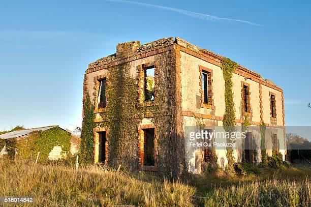Abandonned house at L'Aiguillon-sur-Mer of Vendée department in France