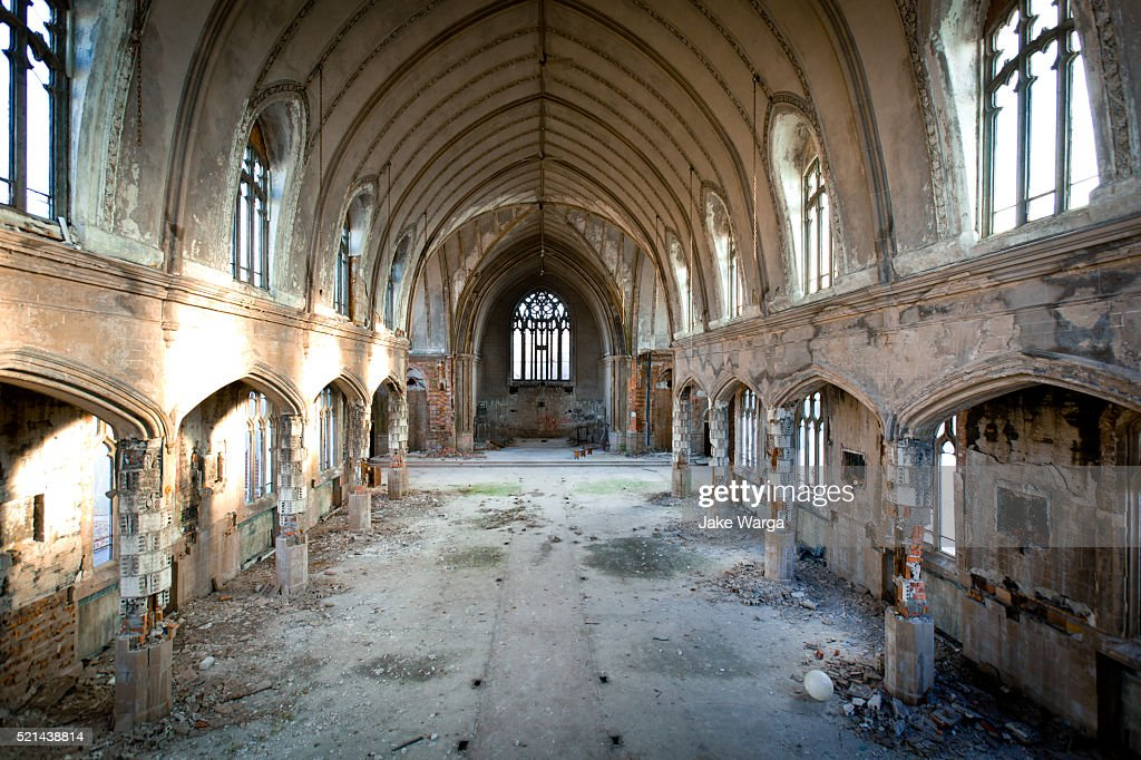 Abaondoned Church, Detroit, Michigan : Stock Photo