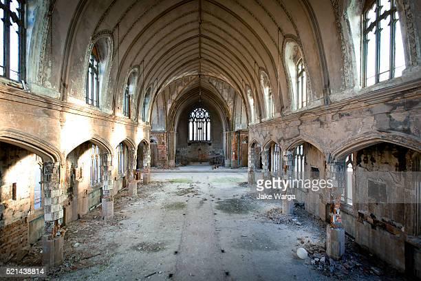abaondoned church, detroit, michigan - jake warga stock photos and pictures