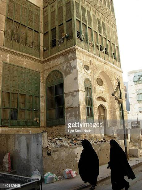 abayas in balad of jeddah - jiddah stock pictures, royalty-free photos & images