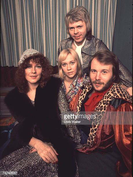 Abba 1975 during Abba File Photos in London, United Kingdom.