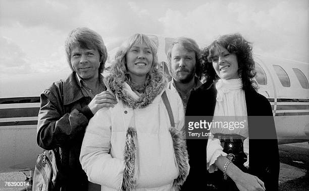 Abba Having Just Arrived In Bournemouth England