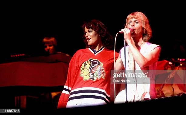 Abba in concert during Abba in Concert September 30 1979 at Auditorium Theater in Chicago Illinos United States