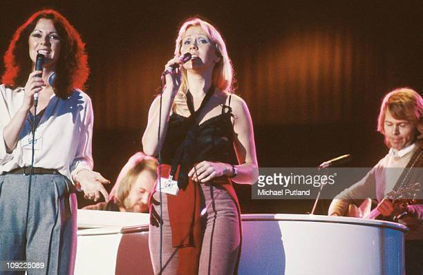 Abba perform at Unicef Gala in New York 8th January 1979 AnniFrid Lyngstad Bjorn Ulvaeus Agnetha Faltskog Benny Andersson