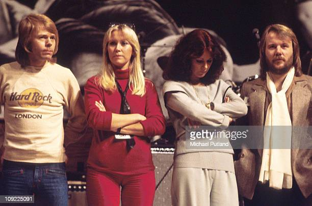 Abba perform at Unicef Gala in New York 8th January 1979 Benny Andersson Agnetha Faltskog AnniFrid Lyngstad Bjorn Ulvaeus