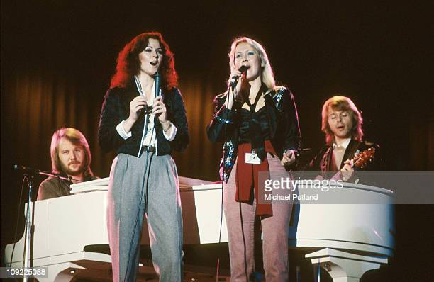 Abba perform at Unicef Gala in New York 8th January 1979 Bjorn Ulvaeus AnniFrid Lyngstad Agnetha Faltskog Benny Andersson