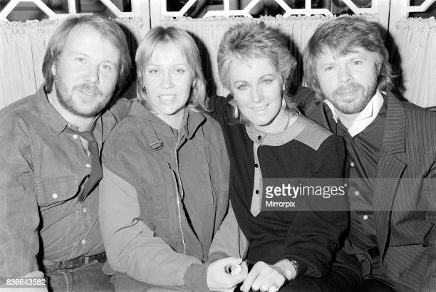 Abba Swedish Pop band November 1982 celebrating 10 years together 5/11/1982