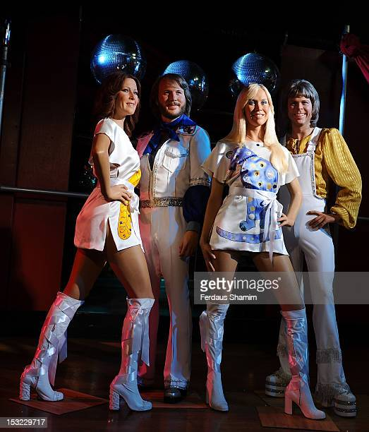 Abba waxworks are unveiled at Madame Tussards on October 2 2012 in London England