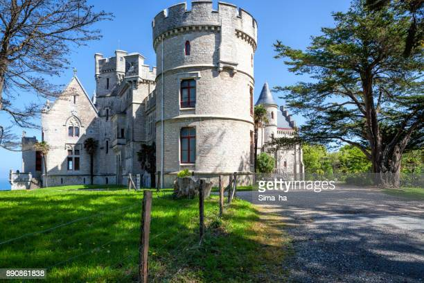 abbadia castle, hendaye, france - aquitaine stock photos and pictures