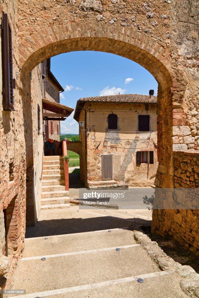 Abbadia Isola, Siena Province, Tuscany, Italy : Foto stock