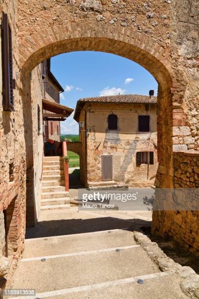 abbadia isola, siena province, tuscany, italy - mauro tandoi stock photos and pictures