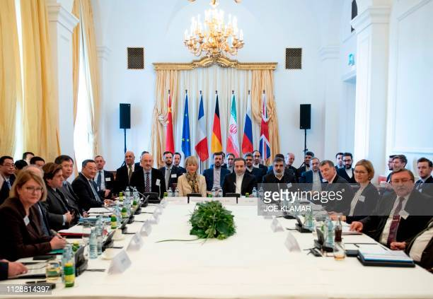 Abbas Araghchi , political deputy at the Ministry of Foreign Affairs of Iran, and the Secretary General of the European Union's External Action...
