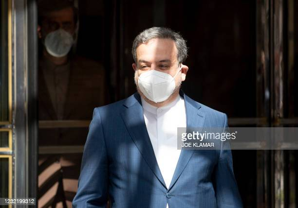 Abbas Araghchi, political deputy at the Ministry of Foreign Affairs of Iran, leaves the 'Grand Hotel Wien' after the closed-door nuclear talks with...
