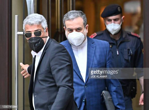 Abbas Araghchi , political deputy at the Ministry of Foreign Affairs of Iran, leaves the 'Grand Hotel Wien' after the closed-door nuclear talks in...