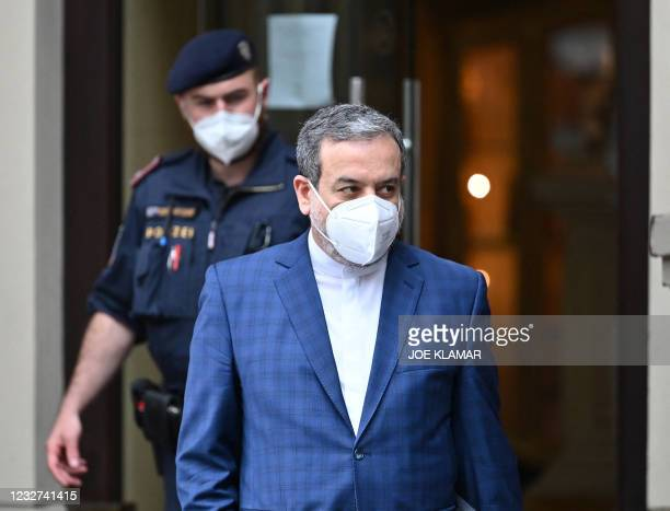 Abbas Araghchi, political deputy at the Ministry of Foreign Affairs of Iran, leaves the 'Grand Hotel Wien' after the closed-door nuclear talks in...