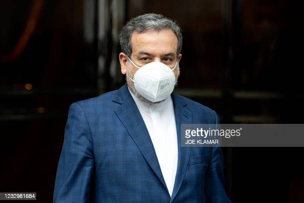 Abbas Araghchi, political deputy at the Ministry of Foreign Affairs of Iran, leaves the Grand Hotel Wien after closed-door talks aimed at saving the...