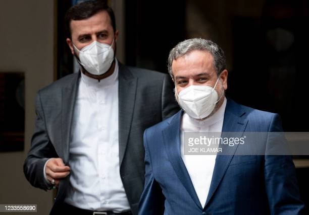 Abbas Araghchi , political deputy at the Ministry of Foreign Affairs of Iran, and Iran's Governor to the International Atomic Energy Agency , Kazem...