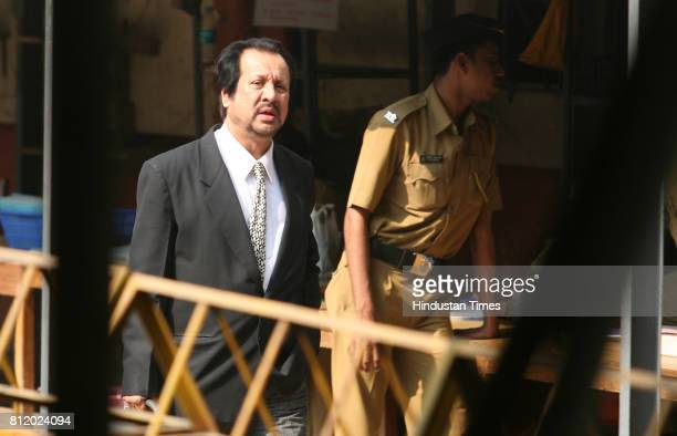 Abbas Kazmi lawyer of terrorist Ajmal Kasab outside special court at Arthur Road on Friday