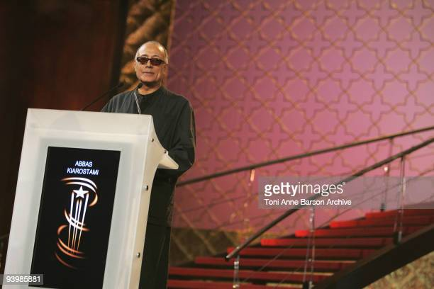 Abbas Kiarostami attends the John Rabe premiere at the 9th Marrakesh Film Festival at the Palais des Congres on December 4 2009 in Marrakech Morocco