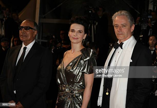 Abbas Kiarostami Juliette Binoche and William Shimell attend the 'Certified Copy' Premiere at the Palais des Festivals during the 63rd Annual Cannes...