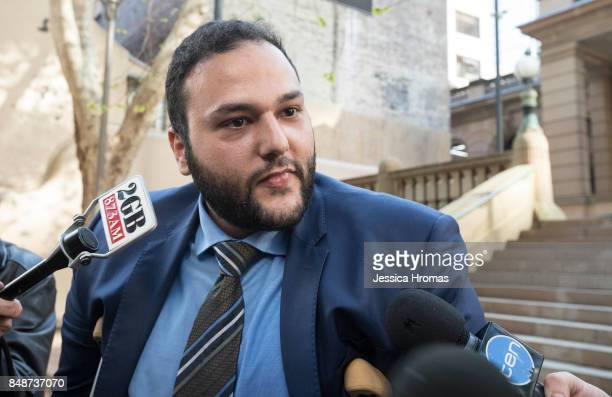 Abbas Soukie lawyer for Fadi Ibrahim leaves Sydney Central Local Court after Fadi Ibrahim was granted bail on September 18, 2017 in Sydney,...