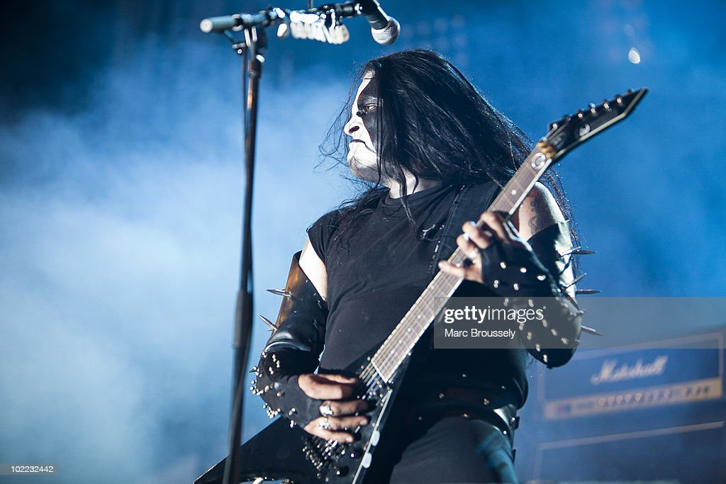 Abbath Doom Occulta of Immortal performing on stage at Hellfest Festival on June 19, 2010 in Clisson, France.
