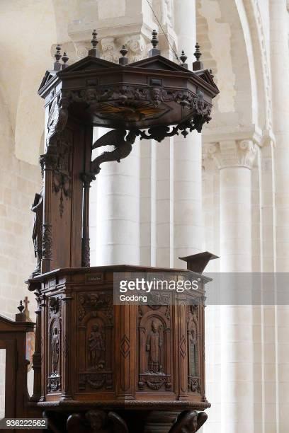 AbbayeauxDames Caen Holy Trinity abbey church Pulpit France