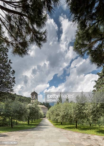 Abbazia di Piona. Cistercian abbey. San Nicola. Piona. Como Lake. Lombardy. Italy. Europe.
