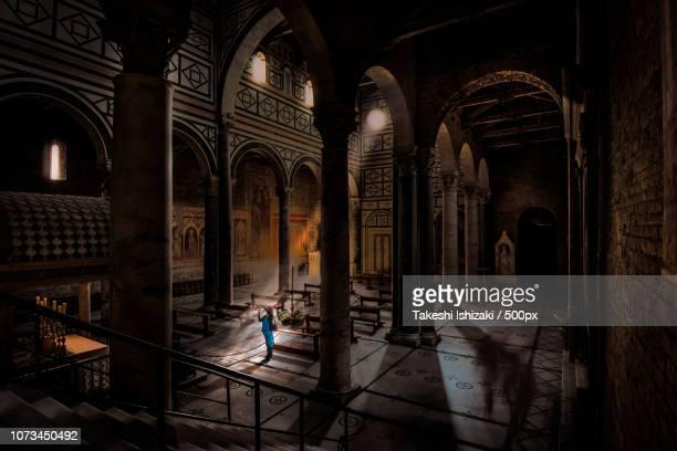 abbazia di san miniato al monte, florence - san miniato stock pictures, royalty-free photos & images