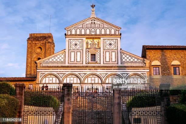 abbazia di san miniato al monte, florence, tuscany, italy - san miniato stock pictures, royalty-free photos & images