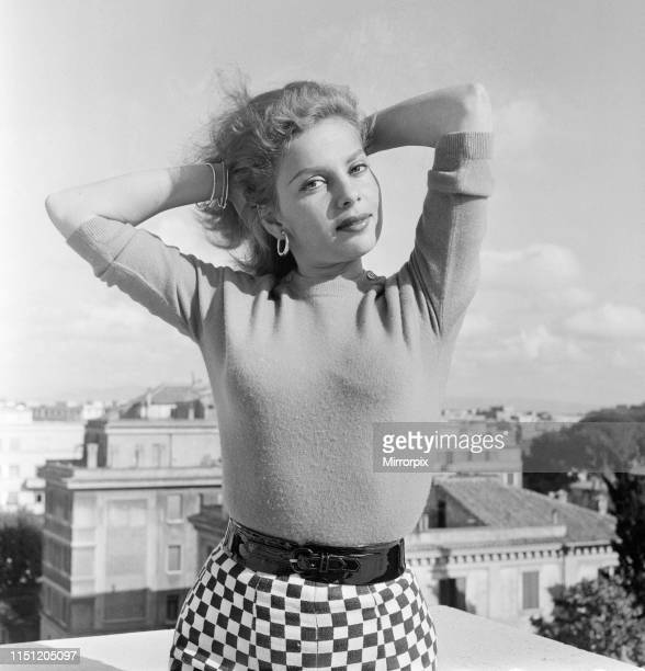 Abbe Lane American singer and actress in Rome to star in film The Wanderers Friday 27th April 1956