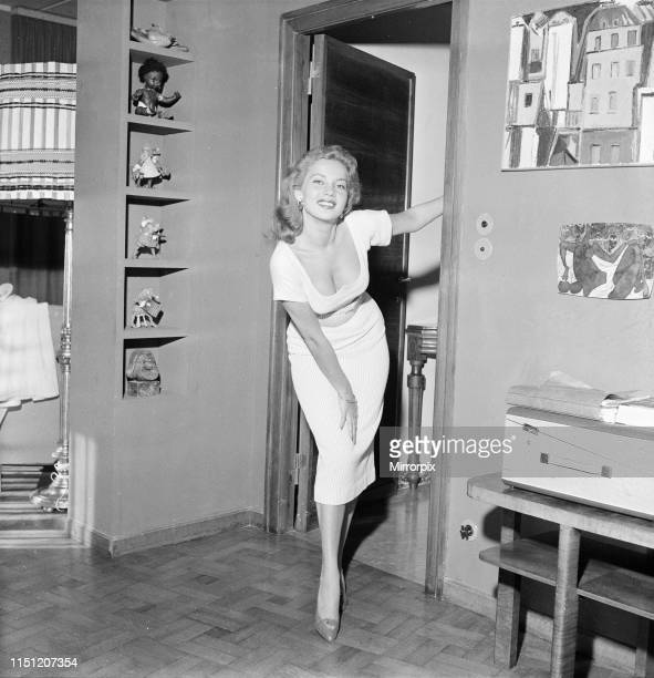 Abbe Lane, American singer and actress, in Rome, to star in film The Wanderers, Friday 27th April 1956.