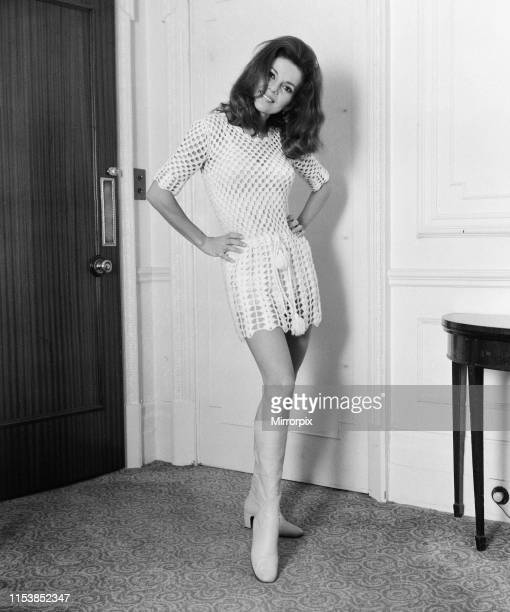 Abbe Lane, American singer and actress, in the UK to star in her own one hour programme for the BBC, The Talk of the Town, pictured in her hotel...