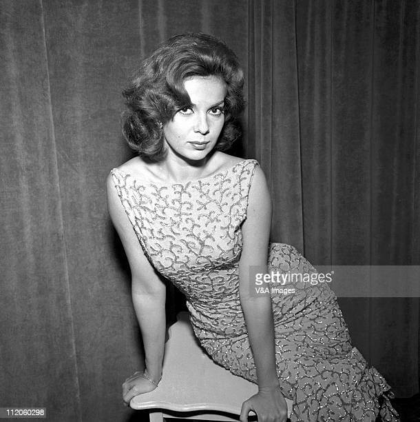 Abbe Lane, posed, 1957.