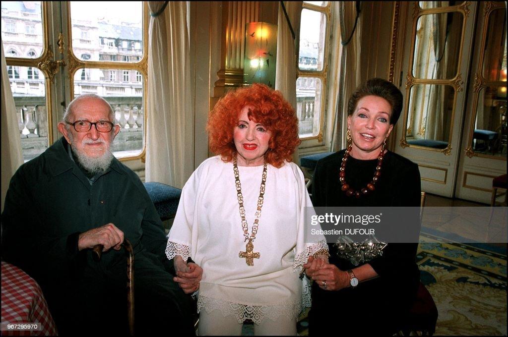 Abbe Pierre, Yvette Horner, Diane de Wutemberg.