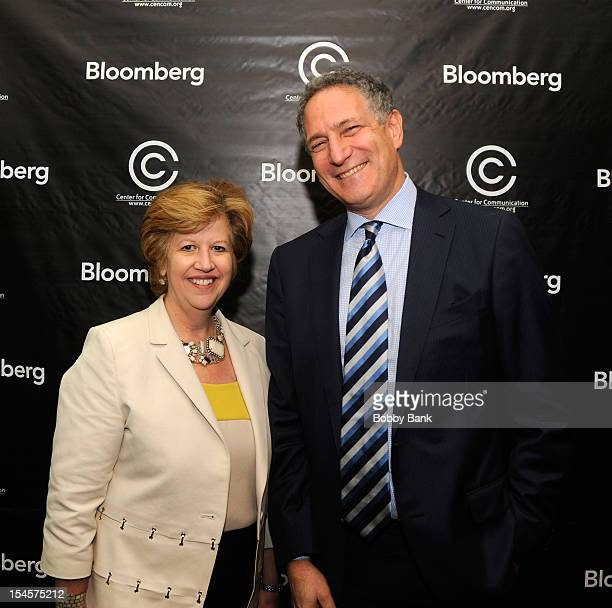 Abbe Raven, CEO A&E Networks and Daniel L. Doctoroff, President CEO of Bloomberg LP attends the 2012 Center for Communication Annual Luncheon at The...