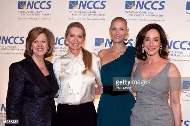 Abbe Raven President and CEO AE Television Networks Lisa Niemi Sharon Blynn Lilly Tartikoff attend the 2010 NCCS Rays of Hope awards gala at the...