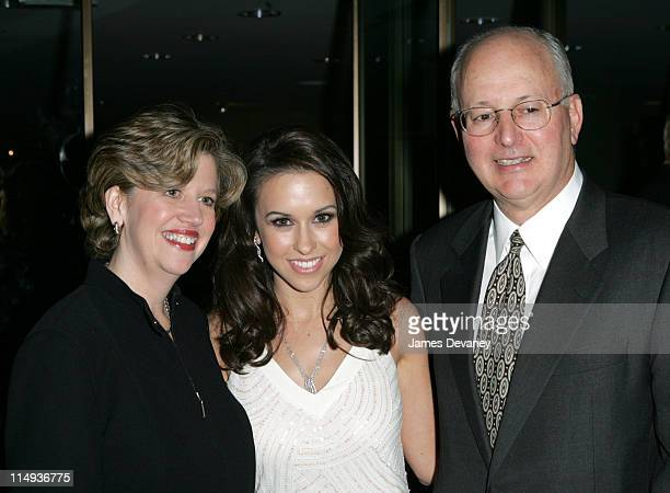 Abbe Raven president of AE Lacey Chabert and Nick Davatzes CEO/president of AE