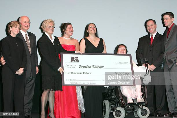Abbe Raven president of AE Nick Davatzes CEO/president of AE Glenn Close and Brooke Ellison with family