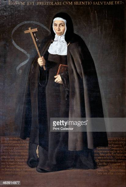 'Abbess Jerónima de la Fuente' 1620 The elderly nun's gaze is keen and slightly melancholic as if prepared for any sacrifice She holds a large...