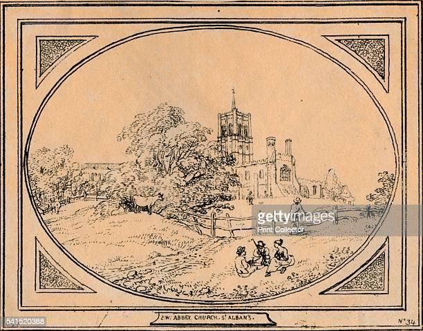 Abbey Church, St Albans', 1782. Artist: Unknown.