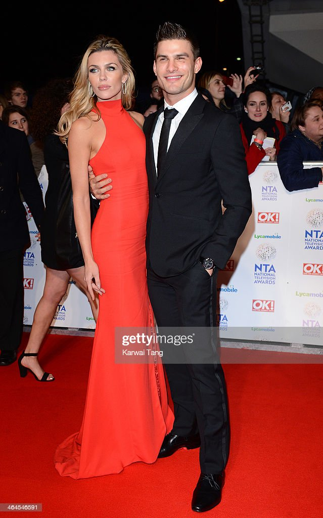 Abbey Clancy and Aljaz Skorjanec attend the National Television Awards at the 02 Arena on January 22, 2014 in London, England.